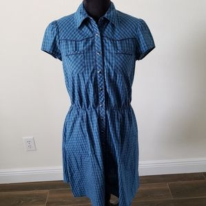 B2G1 Kimchi Blue Western Plaid Snap Button Dress